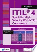ITIL   4 Specialist High Velocity IT  HVIT  Courseware Book