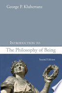 Introduction to the Philosophy of Being  Second Edition