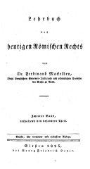 Lehrbuch des heutigen römischen Rechts. 6., verm. u. verb. Aufl