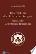 Unterricht in der christlichen Religion