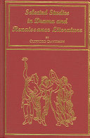 Selected Studies in Drama and Renaissance Literature