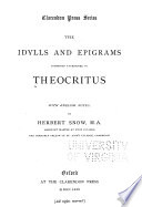 The idylls and epigrams commonly attributed to Theocritus