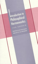 Introduction to Philosophical Hermeneutics (Yale Studies in Hermeneutics)