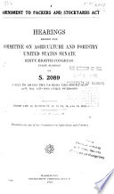 Amendment to Packers and Stockyards Act