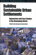 Building Sustainable Urban Settlements Book