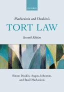 Markesinis and Deakin s Tort Law