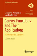Convex Functions and Their Applications Pdf/ePub eBook