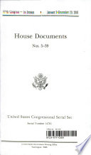 United States Congressional Serial Set  Serial No  14701  House Documents Nos  5 39