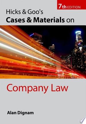 Download Hicks & Goo's Cases and Materials on Company Law Free Books - Reading Best Books For Free 2018