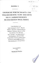 Handbuch der europäischen Wirtschafts- und Sozialgeschichte: Europäische Wirtschafts- und Sozialgeschichte von der Mitte des 19. Jahrhunderts bis zum ersten Weltkrieg