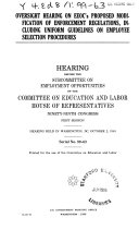 Oversight Hearing on EEOC's Proposed Modification of