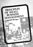 Principles of small business management