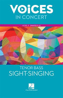 Hal Leonard Voices In Concert Level 3 Tenor Bass Sight Singing Book