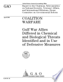 Coalition Warfare Gulf War Allies Differed In Chemical And Biological Threats Identified And In Use Of Defensive Measures