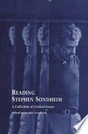 Reading Stephen Sondheim Book