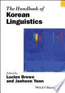 The Handbook Of Korean Linguistics