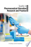 Quality In Pharmaceutical Education Research And Practice Vision 2020  Book PDF