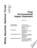White Mountain National Forest  N F    Forest Plan Revision  Proposed Land and Resource Management Plan Book
