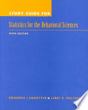 Study Guide for Statistics for the Behavioral Sciences
