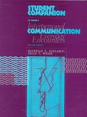 Student Companion To Wood S Interpersonal Communication