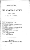 Selections from the Irish Quarterly Review