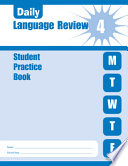 Daily Language Review Grade 4 Student Book
