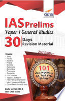 Ias Prelims Paper 1 General Studies 30 Days Revision Material 2nd Edition
