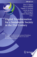 Digital Transformation For A Sustainable Society In The 21st Century