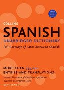 Cover of Collins Spanish Unabridged Dictionary, 9th Edition