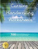 Cursive Handwriting Worksheets  Book