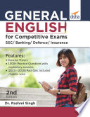 General English For Competitive Exams Ssc Banking Defence Insurance 2nd Edition