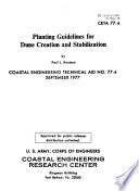 Planting Guidelines for Dune Creation and Stabilization
