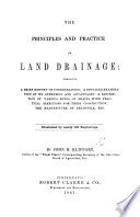 The Principles And Practice Of Land Drainage Book PDF