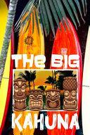 The Big Kahuna: Hawaii Tiki Bar Retro Vibes Aloha Fishing Surfboards Shark Men's Cream Paper College Ruled Lined Notebook Journal Matt