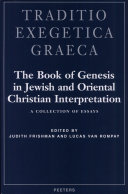 The Book of Genesis in Jewish and Oriental Christian Interpretation