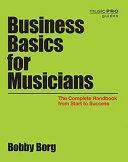 Business Basics for Musicians Book
