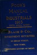 Poor S Manual Of Industrials Book PDF