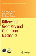 Differential Geometry and Continuum Mechanics Book