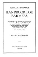 Popular Mechanics Handbook for Farmers