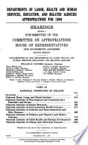 Departments of Labor  Health and Human Services  Education  and related agencies appropriations for 1989 Book