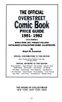 The Official Overstreet Comic Book Price Guide  1991 1992