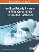 Handling Priority Inversion in Time Constrained Distributed Databases
