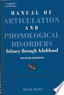 Manual Of Articulation And Phonological Disorders Book
