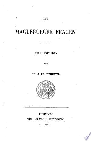 Download Die Magdeburger Fragen Free Books - Dlebooks.net