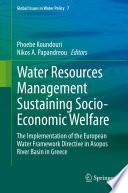 Water Resources Management Sustaining Socio Economic Welfare