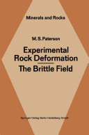 Experimental Rock Deformation - The Brittle Field [Pdf/ePub] eBook