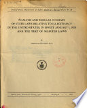 Analysis And Tabular Summary Of State Laws Relating To Illegitimacy In The United States In Effect January 1 1928 And The Text Of Selected Laws