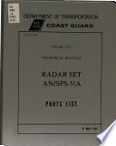 Technical Manual for Radar Set AN SPS 51A