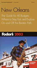 Fodor's New Orleans 2003