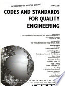 Codes and standards for quality engineering